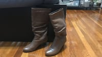 Pair of brown leather knee-high boots. Size 7 from Aldo's  Auburn, 01501
