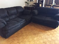 Black  3-seat sofa very clean great conditions  Toronto, M2R