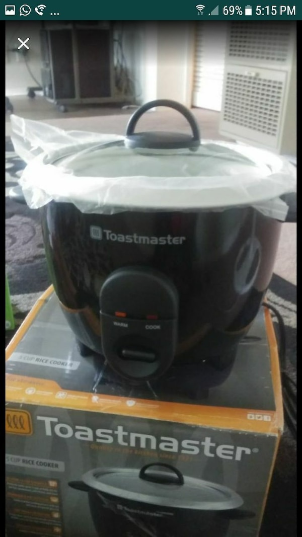 Toastmaster rice cooker five cup  4598e837-75a8-441d-abf1-70b857feed60