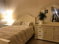 Queen bed + side table + vanity  Vancouver, V6E 0A3