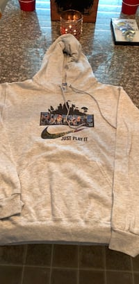 Brand new light gray fortnite hoodie adult small never worn accidentally ordered two for Christmas can't return so this is never been worn pick up in Mason Mason, 45040