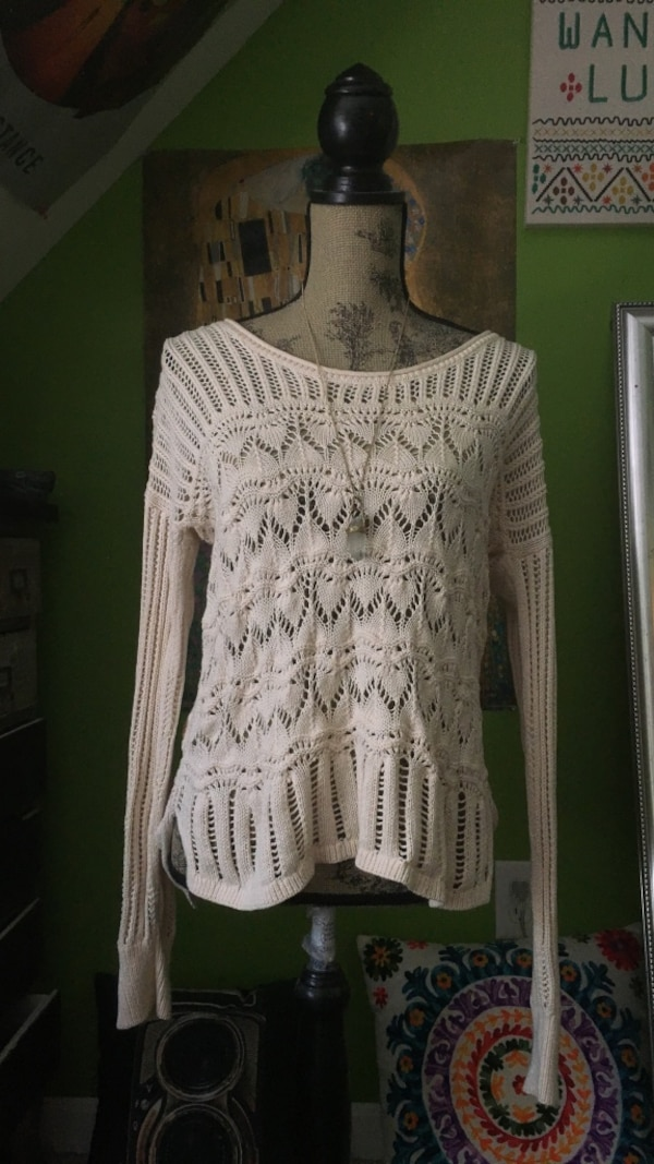 c687fbd30f2f6 Used Lucky Brand Crochet Knit Sweater for sale in Brookline - letgo
