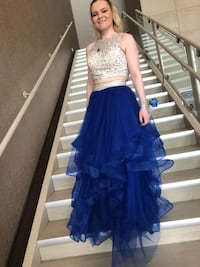 royal blue grad/prom dress with adjustable size top.  Calgary, T1Y 3A5