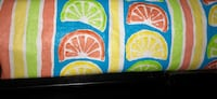 Bright Vibrant Colorful Fun Waterproof Washable Long Oval Tablecloth. Like New!  Moving and everything is packed & lost can't find tape measure but it's Long and Oval) Glendale, 85302