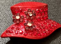 RED HATTER Pin/Brooch North Port, 34287