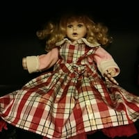 girl in red and white dress doll Bloomfield, 47424