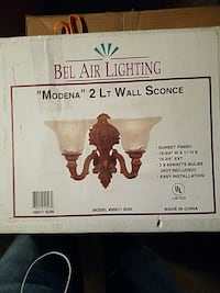2 light wall sconce Upland, 91786