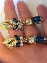 Classy  Fashion jewelry / Long earrings with crystals