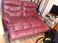 red leather recliner sofa chair Calgary, T2A 2H4