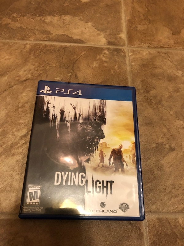 PS4 Dying Light game case