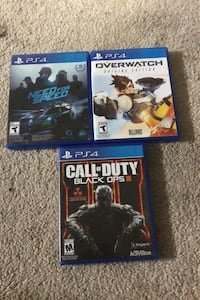 COD BO 3 , OverWatch , Need For Speed Ps4 Games Fort Washington, 20744