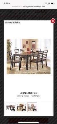 Brown Wood Kitchen Table