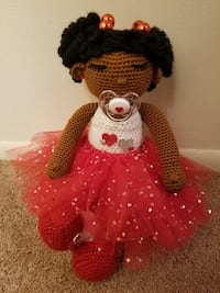 Red and white amigurumi doll Waldorf, 20602