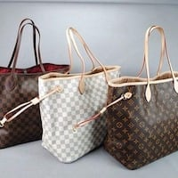 Brand new -Two brown and white leather tote bags 1167 km