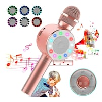 Karaoke Microphone, 3-in-1 Wireless with LED Lights NEW 1/2 PRICE