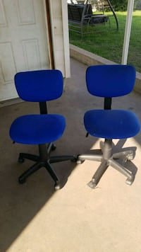 2 blue adjustable chairs Edmonton, T5C 1N4