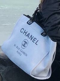 Chanel Deauville Grey and black leather bag Milpitas, 95035