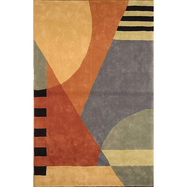 Rodeo Drive Hand-Tufted Wool orange Area Rug