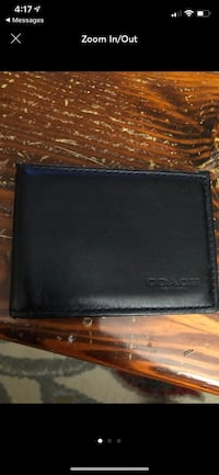 Men's Coach Bifold Wallet Navy Blue Leather Norfolk, 23513