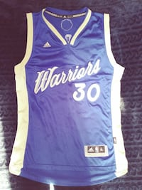 blue and white Warriors 30 Jersey  Vallejo, 94590