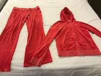 Juicy ! Red zip-up hooded sweatsuit  Toronto, M6B 2N2