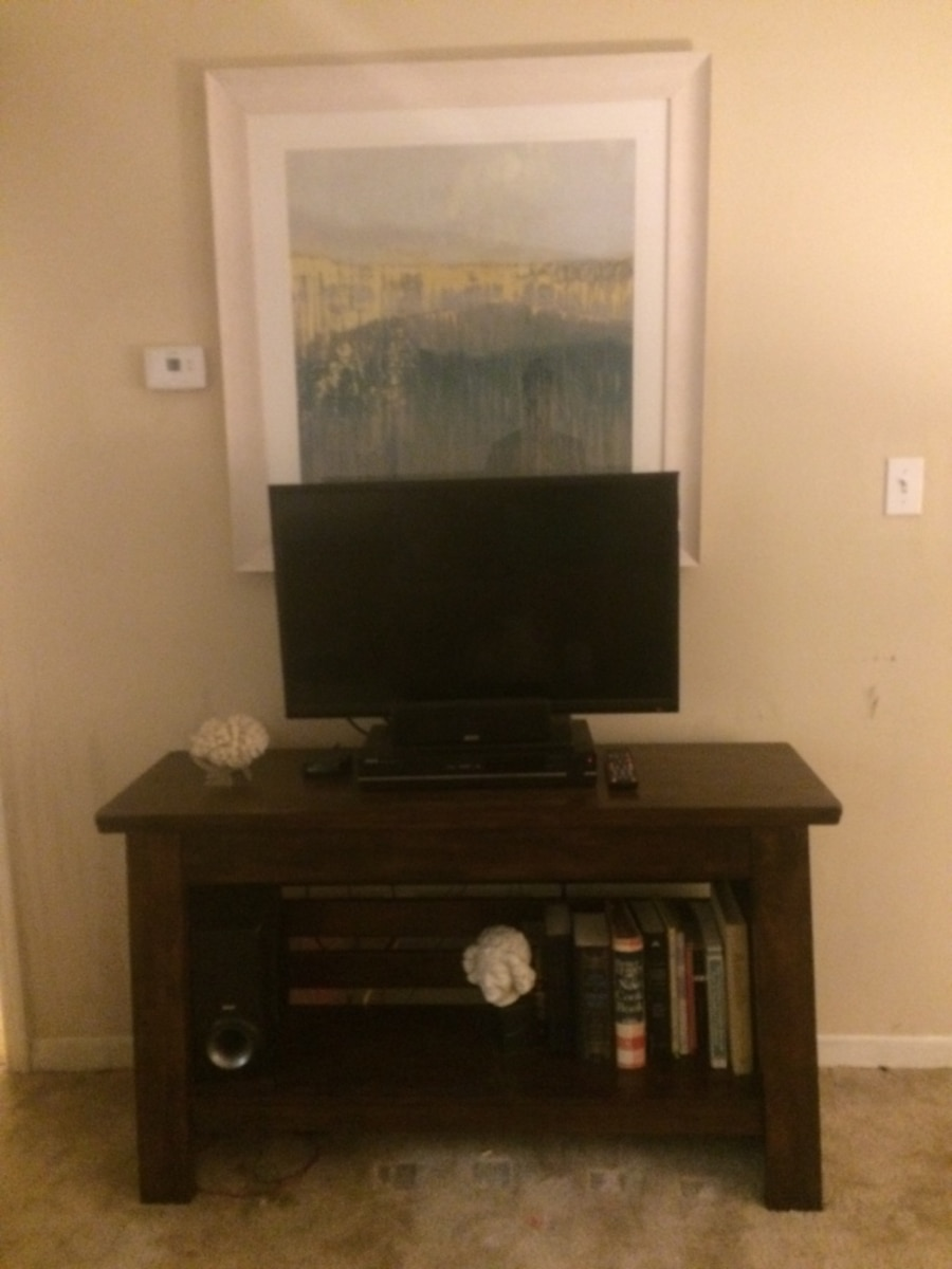 Walnut Media Console Ashley Furniture New In Tampa Letgo