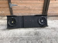 Two 10in Subwoofers with box Orlando, 32832