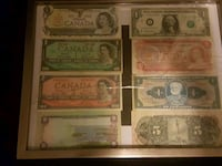 four assorted-denomination banknotes 1959 km