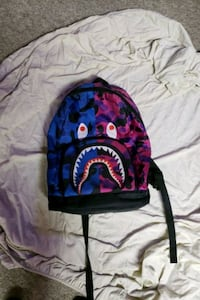 Blue and purple BAPE bag London, N5Y 2B3