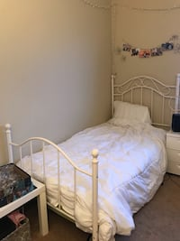 Selling twin bed frame and mattress included Irvine, 92617