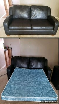 Soft leather couch/ pull out bed Round Lake, 60073