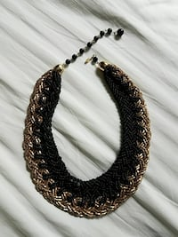 Gold black beads knitted necklaces Newburyport, 01950