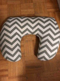 white and gray chevron nursing pillow Toronto, M1R 1S9