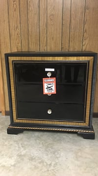 black and brown wooden cabinet