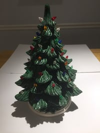 2 Brand new ceramic lighted Christmas trees. 100.00 each.