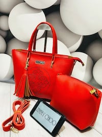 red and black leather tote bag Mumbai, 400088