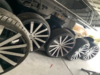 26'(inch) wheels with tires and spare! LASVEGAS