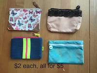 Makeup bags $2ea/all for $5 New York, 10032