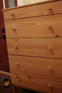 brown wooden 4-drawer chest North Potomac, 20878