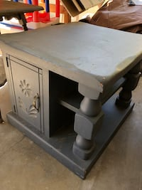 square gray wooden coffee table Temecula, 92591