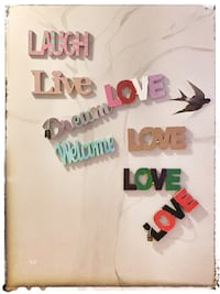 Wooden hand painted signs