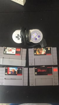 4 super nes games and controller Edmonton, T6X