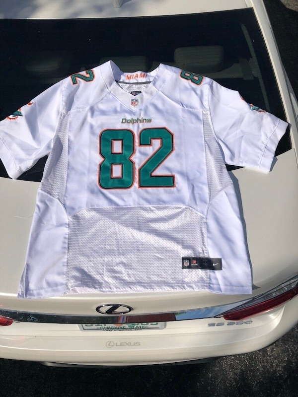 huge discount 9bcb0 5f166 NEW : BRIAN HARTLI NE DOLPHINS JERSEY (7TH PACE ALL TIME IN DOLPHIN  RECEIVING YARDS) SIZE 52ITS BIG PLENTY OF ROOM. AUTHENTIC HAND STITCHED  UNIFORM ...