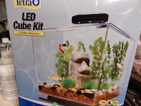 3 GALLON LED CUBE AQUARIUM KIT - NEW - $15 (MONROVIA, MD 21770)  Monrovia