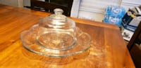 Crystal platter with lid Gibsonville, 27249