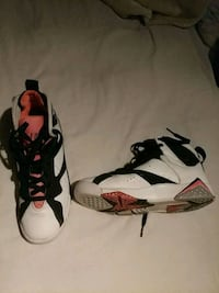 pair of white-and-black Nike basketball shoes Houston, 77076