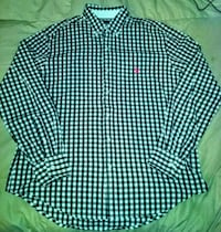 green and white checkered dress shirt Silver Spring, 20906