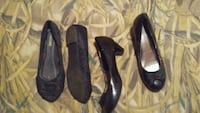 two pairs of black and brown leather heeled shoes Ward, 72176