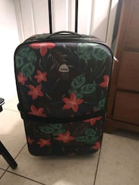 Large floral luggage