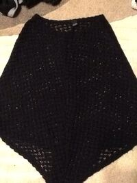 women's black poncho